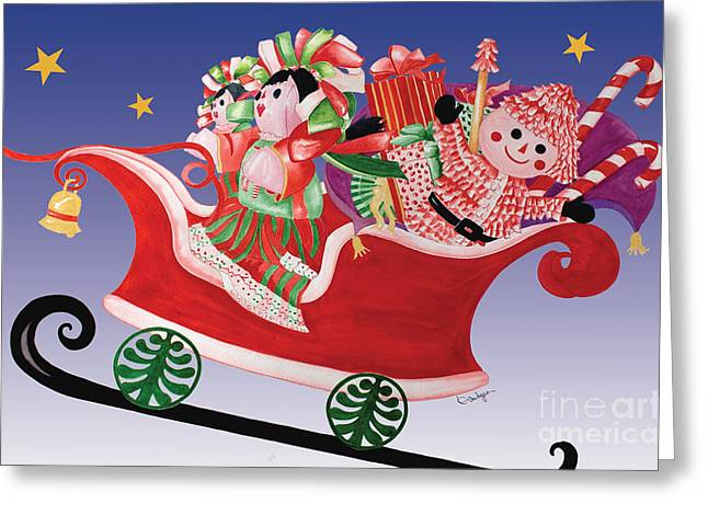 Holiday Twin Delivery Greeting Card