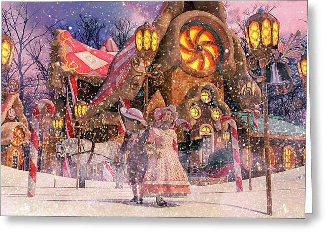 Holiday Village Greeting Card