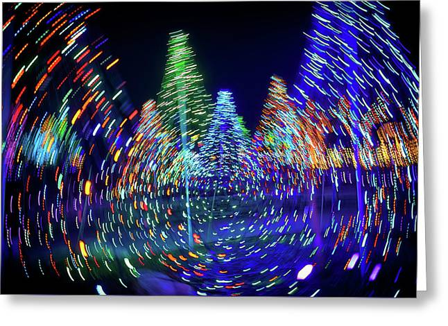 Holidays Aglow Greeting Card by Rick Berk