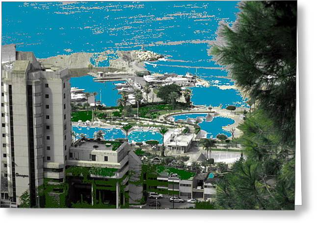 Holidays  Beach Resort-lebanon Greeting Card by Therese AbouNader