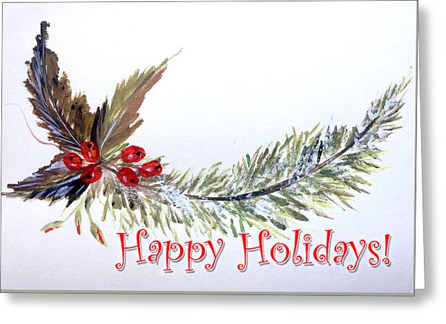 Holidays Card - 2 Greeting Card