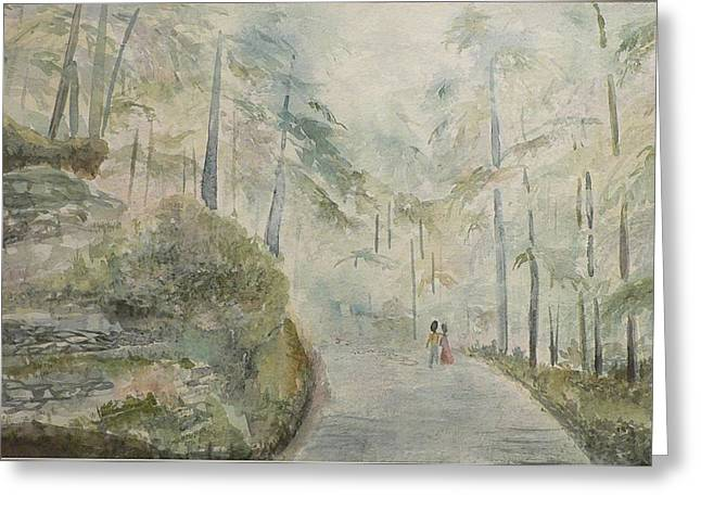 Greeting Card featuring the painting Holidays In Shimla by Geeta Biswas