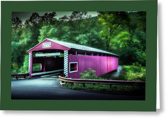 Hollingshead Coverd Bridge Greeting Card by Marvin Spates