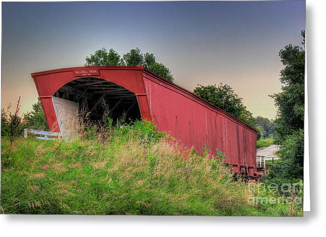 Holliwell Covered Bridge Greeting Card by Thomas Danilovich