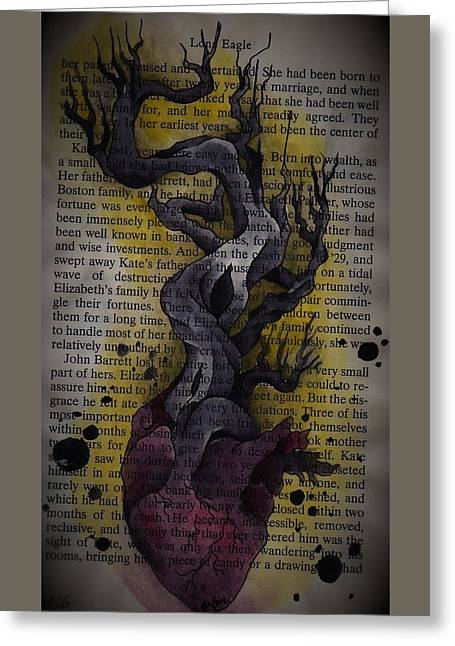 Hollow Hart  Greeting Card by Inkette Artist