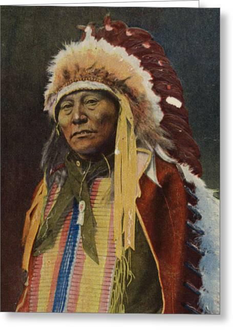 Hollow Horn Bear Greeting Card