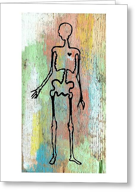 Hollow Pastels Greeting Card