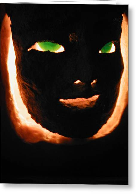 Holloween Mask Greeting Card by Mark Stevenson