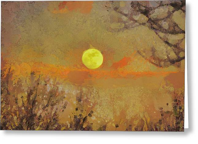 Greeting Card featuring the mixed media Hollow's Eve by Trish Tritz