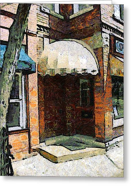 Best Sellers -  - Van Gogh Style Greeting Cards - Holly Battle Alley Doorway Greeting Card by Darrell Foltz