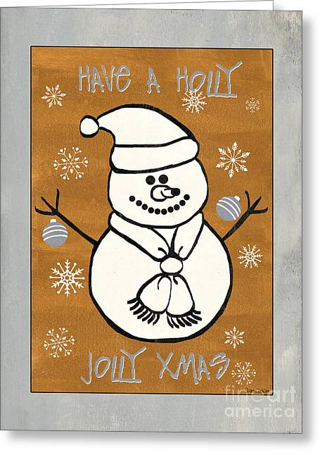 Holly Holly Xmas Greeting Card by Debbie DeWitt