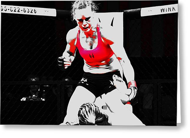 Holly Holm 6c Greeting Card by Brian Reaves
