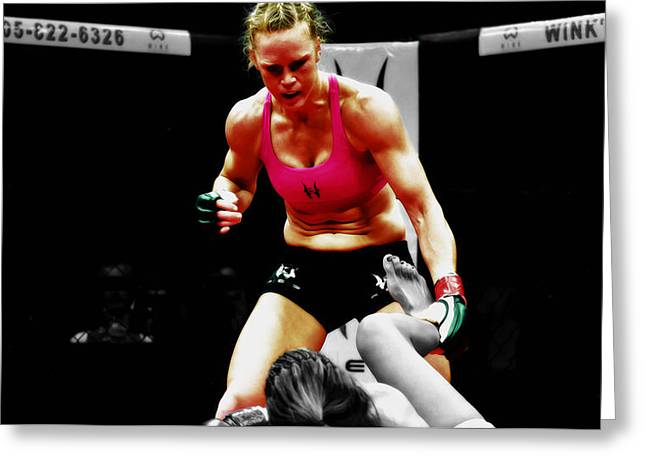 Holly Holm Greeting Card by Brian Reaves