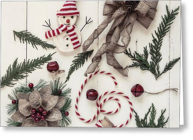 Holly Jolly Greeting Card by Kim Hojnacki