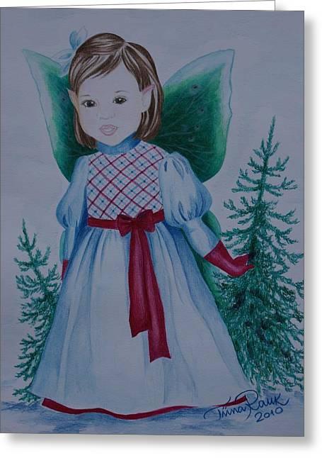 Holly Greeting Card by Tiina Rauk