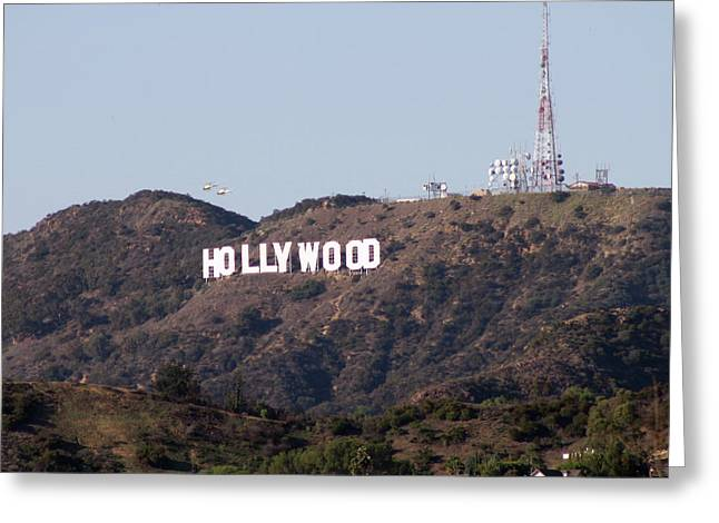 Hollywood And Helicopters Greeting Card