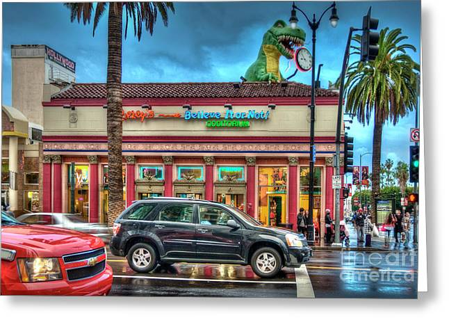 Hollywood Blvd Rainy Day Greeting Card