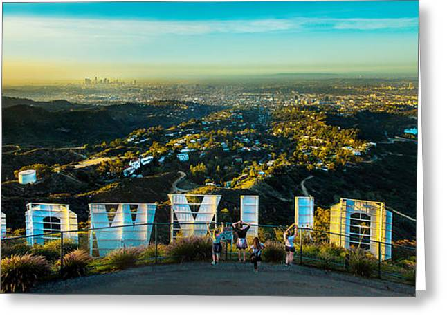 Hollywood Dreaming Greeting Card by Az Jackson