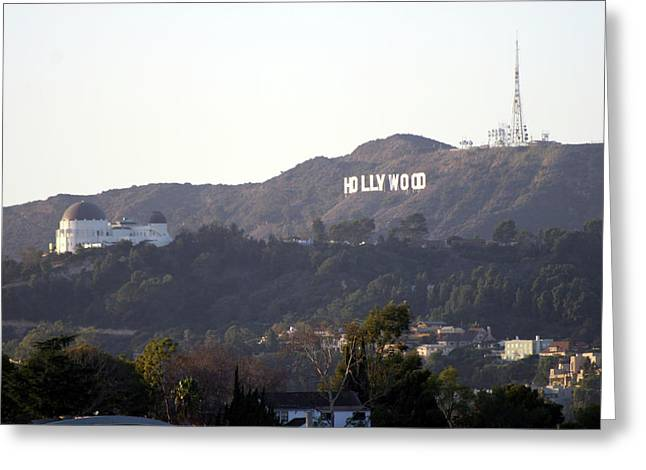 Hollywood Hills And Griffith Observatory Greeting Card