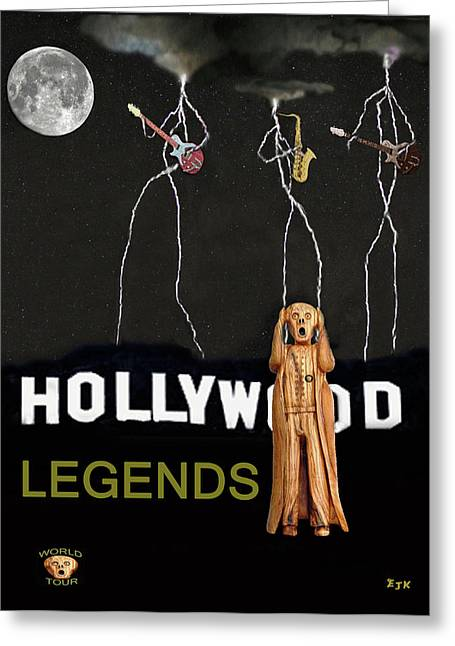 Hollywood Legends  Greeting Card by Eric Kempson