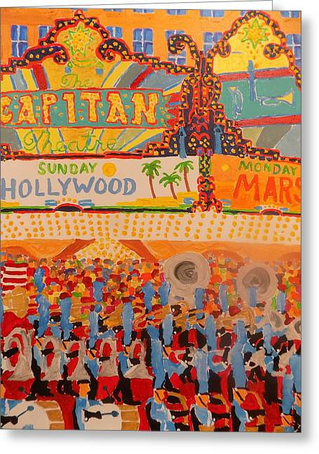 Hollywood Parade Greeting Card by Rodger Ellingson