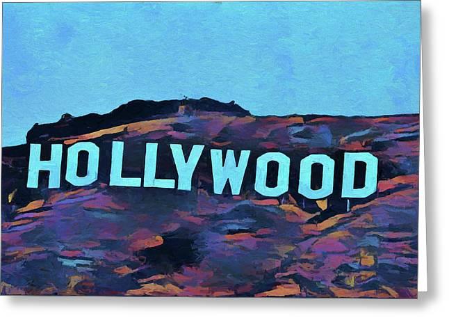 Hollywood Pop Art Sign Greeting Card