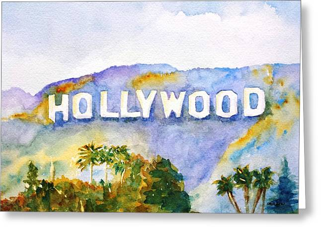 Hollywood Sign California Greeting Card