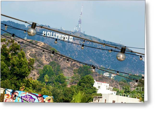 Greeting Card featuring the photograph Hollywood Sign On The Hill 1 by Micah May