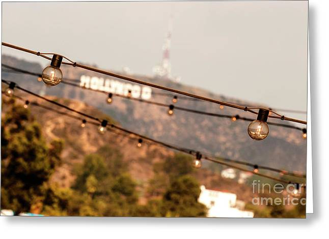 Greeting Card featuring the photograph Hollywood Sign On The Hill 2 by Micah May