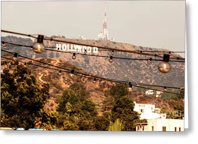 Greeting Card featuring the photograph Hollywood Sign On The Hill 3 by Micah May