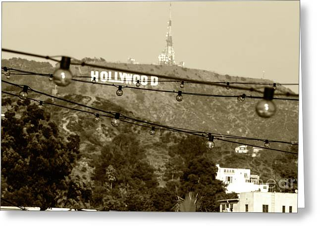 Greeting Card featuring the photograph Hollywood Sign On The Hill 4 by Micah May