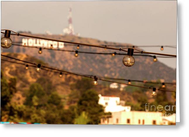 Greeting Card featuring the photograph Hollywood Sign On The Hill 5 by Micah May