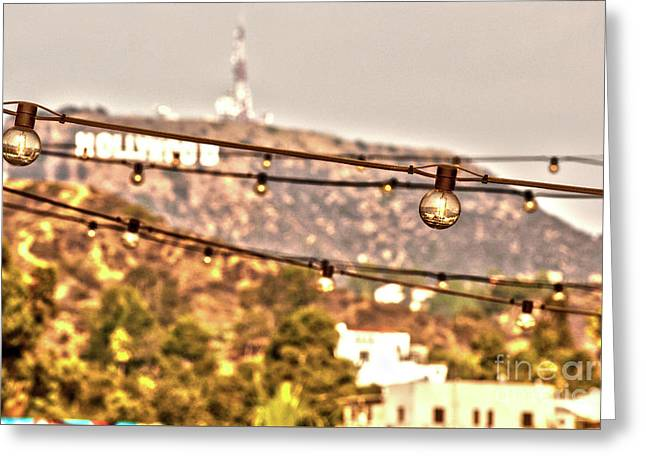 Greeting Card featuring the photograph Hollywood Sign On The Hill 6 by Micah May