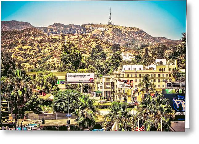 Hollywood Sign View From Dolby Theatre Greeting Card by Kinga Szymczyk