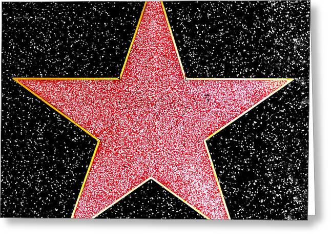 Hollywood Walk Of Fame Star Greeting Card