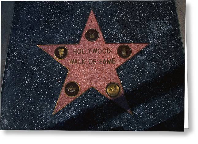 Hollywood Walk Of Fame Star Los Angeles Greeting Card