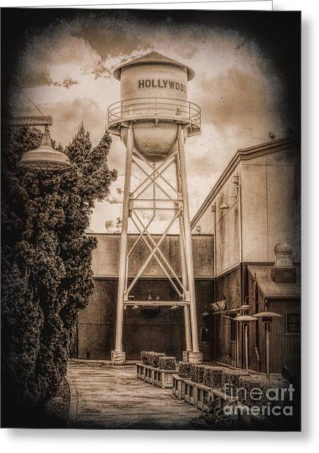Hollywood Water Tower 2 Greeting Card