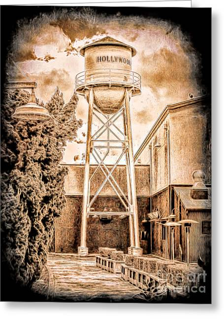 Hollywood Water Tower Greeting Card