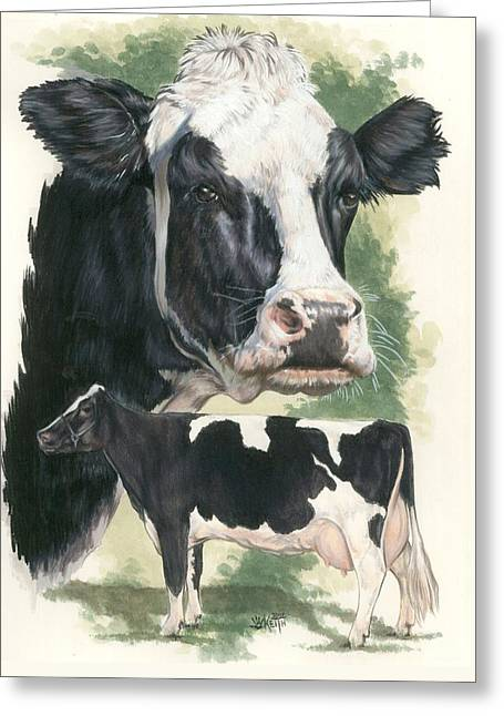 Holstein Greeting Card by Barbara Keith