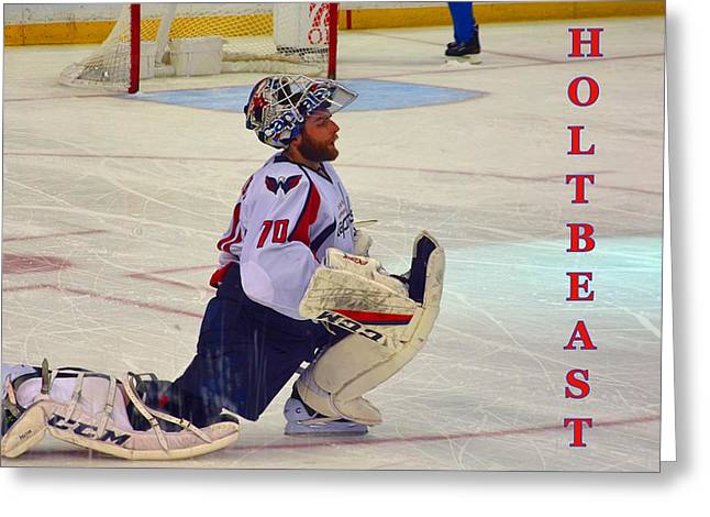 Holtbeast Greeting Card by Lisa Wooten