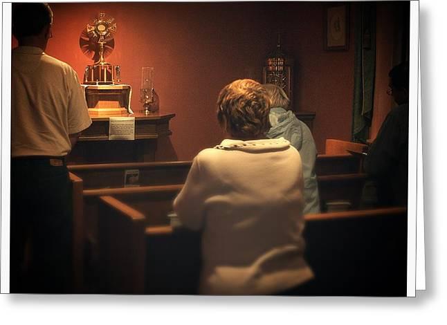 Holy Adoration Altar Greeting Card