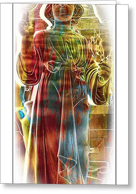 Holy Child Statue Greeting Card by Kathleen Struckle
