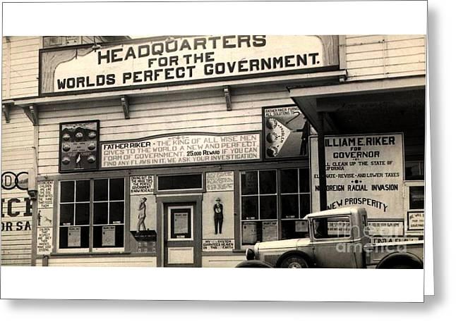 Holy City World Government Santa Clara County California 1938 Greeting Card