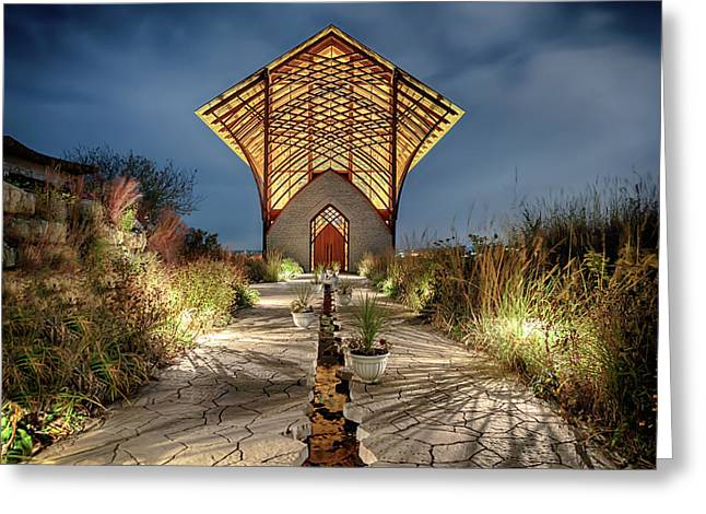 Greeting Card featuring the photograph Holy Family Shrine by Susan Rissi Tregoning