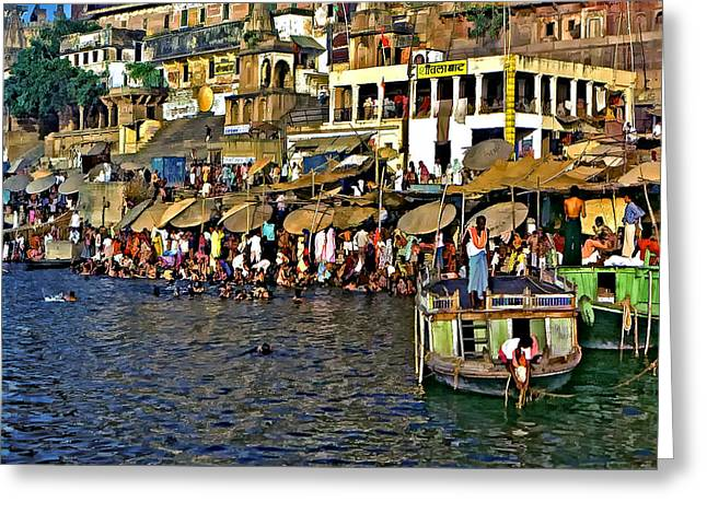 Holy Ganges Greeting Card by Steve Harrington