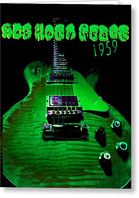 Greeting Card featuring the photograph Holy Grail 1959 Retro Relic Guitar by Guitar Wacky
