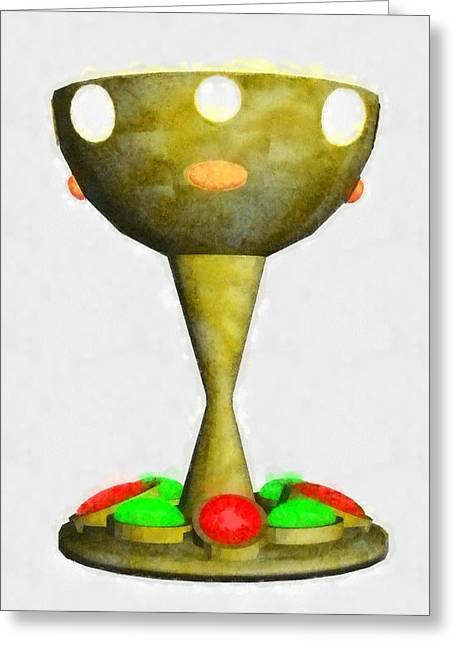 Holy Grail By Pierre Blanchard Greeting Card