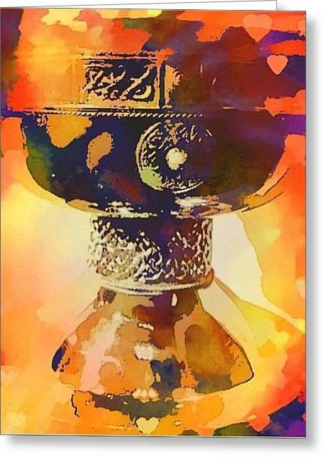 Holy Grail Greeting Card by Christine Paris