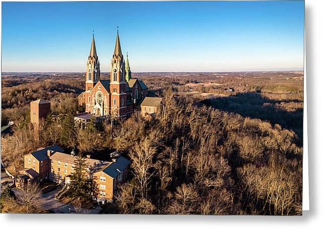 Greeting Card featuring the photograph Holy Hill In January by Randy Scherkenbach