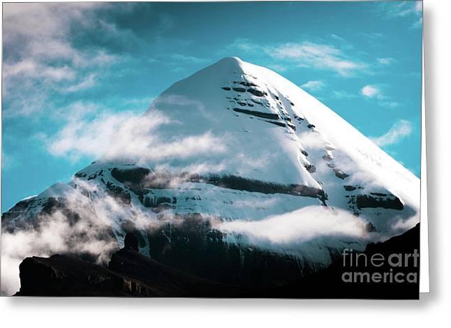Holy Kailas Himalayas Mountain Tibet Yantra.lv Greeting Card